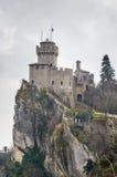 De La Fratta eller Cesta torn, San Marino Royaltyfri Foto