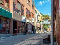 De La Gauchetière Street (Chinatown). De La Gauchetière Street Chinatown in Montreal, Quebec, Canada Stock Image