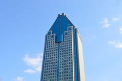 1000 de la Gauchetiere是一个摩天大楼在蒙特利尔 库存照片