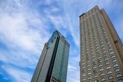 1000 de la Gauchetiere是摩天大楼 库存照片