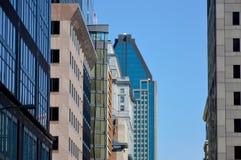 de 1000 la Gauchetiere é um arranha-céus em Montreal Fotografia de Stock Royalty Free