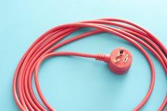 De la herida cable de extensión rojo largo para arriba Fotografía de archivo
