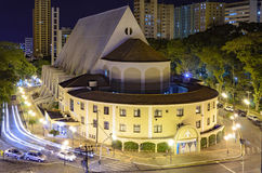 De la iglesia centro de la ciudad encendido de Londrina Imagenes de archivo