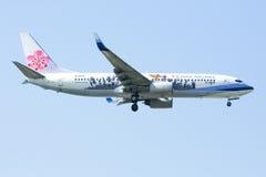 737-800 de la ligne aérienne de la Chine Photographie stock