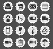 De la livraison icônes simplement Photographie stock