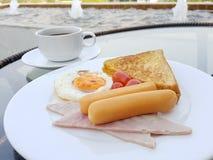 De la mesa de desayuno de la comida concepto al aire libre Imagenes de archivo