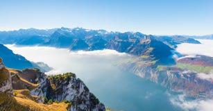 De la montaña de Stoos Suiza Fotografía de archivo