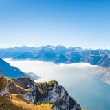 De la montaña de Stoos Suiza Foto de archivo