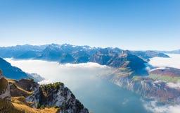De la montaña de Stoos Suiza Foto de archivo libre de regalías
