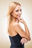 De la mujer espectador rubio hermoso atractivo - fondo ligero Fotografía de archivo libre de regalías