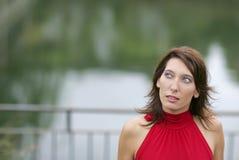 De la mujer retrato del copyspace al aire libre Fotografía de archivo libre de regalías