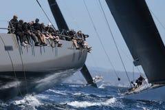 De la navegación de la regata clase wally en Majorca fotografía de archivo libre de regalías