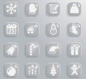 De la Navidad iconos simplemente Imágenes de archivo libres de regalías