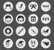 De la Navidad iconos simplemente Imagenes de archivo