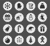 De la Navidad iconos simplemente Imagen de archivo libre de regalías