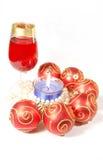 De la Navidad todavía de la celebración vida con los vidrios Imágenes de archivo libres de regalías