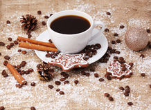 De la Navidad todavía del café vida Imágenes de archivo libres de regalías