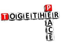 de la paix 3D mots croisé ensemble Images libres de droits