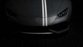 1 de la parte frontal de 250 Lamborghini Huracan Avio Foto de archivo