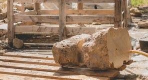 De la pierre a été juste coupé Image stock