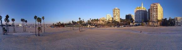 De la playa del panorama ciudad abajo Foto de archivo