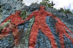墙壁上的de la Prehistoria, Vinales,古巴 图库摄影