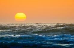 De la puesta del sol cierre para arriba Foto de archivo