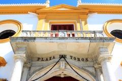 De-La reales Maestranza Plaza de Toros in Sevilla Stockbilder