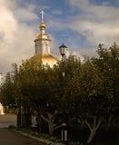 Or de la Russie Chapelle du monastère du séraphin de Sarov dans Diveevo Russie Photos libres de droits