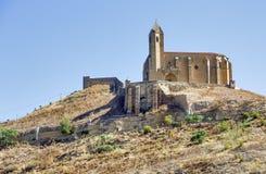 圣维森特de la sonsierra城堡在拉里奥哈 免版税库存图片