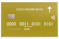 De la tarjeta de crédito aislada en blanco Foto de archivo