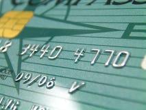 De la tarjeta de crédito con la viruta Fotografía de archivo libre de regalías