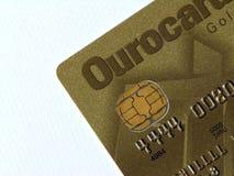 De la tarjeta de crédito de oro Fotos de archivo libres de regalías