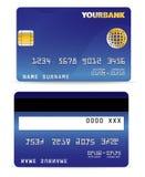 De la tarjeta de crédito en onda alinea detrás Imagen de archivo libre de regalías