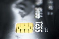 De la tarjeta de crédito negro Foto de archivo libre de regalías