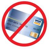 De la tarjeta de crédito no validada Stock de ilustración