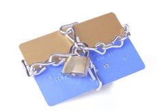 De la tarjeta de crédito Padlocked Imagen de archivo libre de regalías