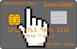 De la tarjeta de crédito para el uso del Internet solamente Imagenes de archivo