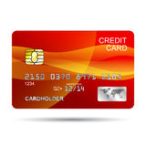 De la tarjeta de crédito rojo Imagenes de archivo