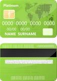 De la tarjeta de crédito verde Foto de archivo libre de regalías