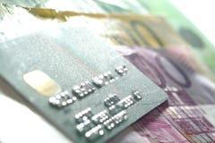 De la tarjeta de crédito y euro Imagen de archivo