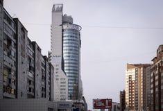 ` de la torre del ` del centro de negocios primer Foto de archivo