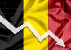 De la UE Bélgica de la bandera flecha abajo Fotos de archivo