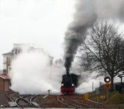 De la vapeur en la locomotive Photographie stock