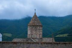 De la ventana del monasterio de Tatev en la provincia de Syunik de la República de Armenia Imágenes de archivo libres de regalías