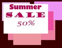 ` de la vente 50 d'été de ` d'illustration La bannière ou l'affiche de Web pour le commerce électronique, les cosmétiques en lign Photos stock
