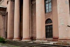 De la vieille le bâtiment architectural Union Soviétique de regard images stock