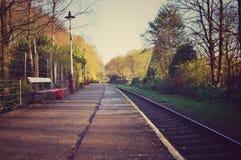 De la visión ferrocarril de Summerseat abajo Fotos de archivo