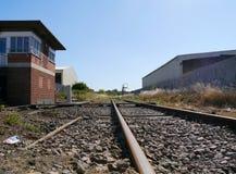 De la visión línea ferroviaria baja abajo Foto de archivo
