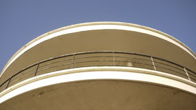 De la Warr art deco building rounded railings Stock Images